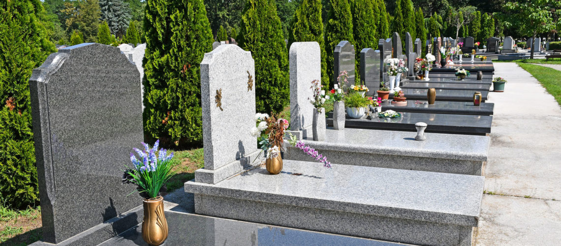 Tombstones in the public cemetery